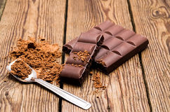 Chocolate and cocoa Stock Images