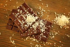 Chocolate and coconut Royalty Free Stock Image