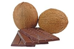 Chocolate with coconut Stock Photography