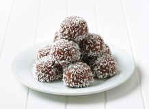 Chocolate Coconut Balls Stock Photography