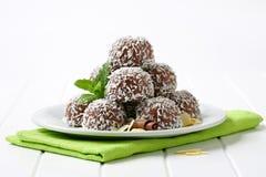 Chocolate Coconut Balls Stock Photos