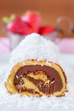 Chocolate Coconut Cake Roll Royalty Free Stock Image