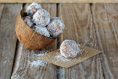 Chocolate coconut candy Stock Images