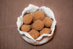 Chocolate coconut and cocoa dusted candy Royalty Free Stock Photos