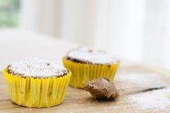 Chocolate Coconut Cupcakes Royalty Free Stock Photos