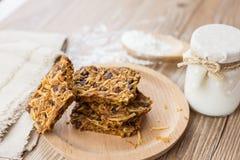 Chocolate & coconut Handmade cookies Stock Photos