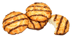 Chocolate Coconut Macaroon Biscuits Stock Photos