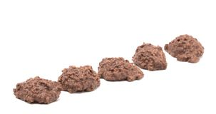 Chocolate Coconut Mound on a White Background. Sweet Chocolate Coconut Mound on a White Background Royalty Free Stock Image