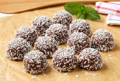 Chocolate coconut snowball cookies Royalty Free Stock Photography