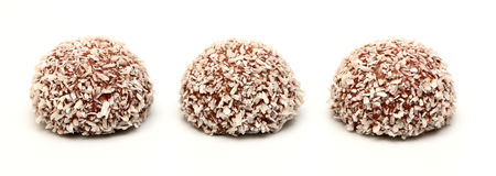 Chocolate Coconut Snowball Stock Photo