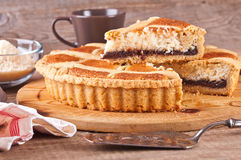 Chocolate coconut tart. Royalty Free Stock Photo