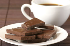 Chocolate and coffee Royalty Free Stock Image