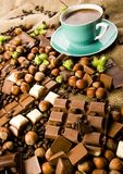 Chocolate & Coffee Royalty Free Stock Photos