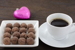 Chocolate and coffee Royalty Free Stock Images