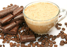 Chocolate and coffee Stock Image