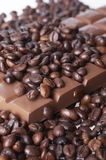 Chocolate and coffee. In good taste brown mix Stock Photo
