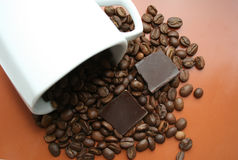 Chocolate-Coffee. Background, and cap Royalty Free Stock Photography