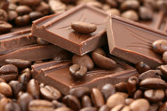 Chocolate and coffee Stock Images