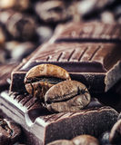 Chocolate-Coffee background Stock Photography