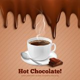 Chocolate And Coffee Background Stock Image