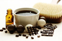 Chocolate and coffee bath Royalty Free Stock Photos