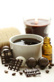 Chocolate and coffee bath Stock Photography