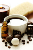 Chocolate and coffee bath Stock Photo