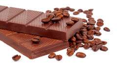 Chocolate with Coffee beans Royalty Free Stock Photo