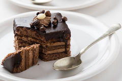 Chocolate and coffee cake Royalty Free Stock Photography