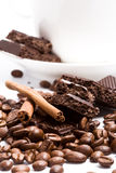 Chocolate, coffee, cinnamon Royalty Free Stock Image
