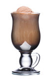 Chocolate coffee cocktail. Glass of coffee cocktail with chocolate and ice cream Royalty Free Stock Photography