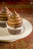 Chocolate and coffee cupcakes Stock Photo