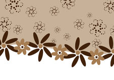 Chocolate coffee flowers - banner. Clip-art Stock Photo