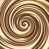 Chocolate or coffee milk cocktail spiral texture Royalty Free Stock Images