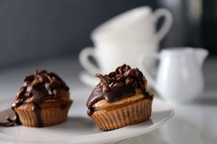 Chocolate-Coffee Muffin Royalty Free Stock Photos