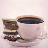 Chocolate and coffee Stock Photos