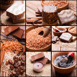 Chocolate and coffee spa Stock Images