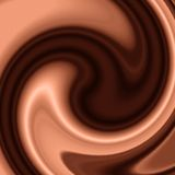 Chocolate and coffee swirl Royalty Free Stock Photography