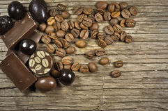 Chocolate with coffee Stock Images