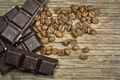 Chocolate with coffee Royalty Free Stock Image