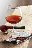 Chocolate and cognac Stock Photo