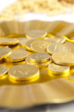 Chocolate Coin Royalty Free Stock Images