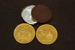 Chocolate coin Royalty Free Stock Photography