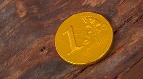Chocolate coin Royalty Free Stock Photos