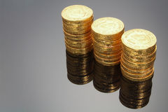 Chocolate Coins stock image