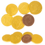 Chocolate coins Royalty Free Stock Photos