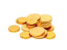 Chocolate coins Royalty Free Stock Photo