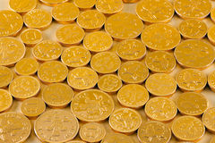 Chocolate coins Stock Photography