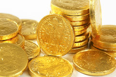Chocolate coins Stock Photo