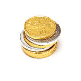 Chocolate Coins, Isolated Royalty Free Stock Photo